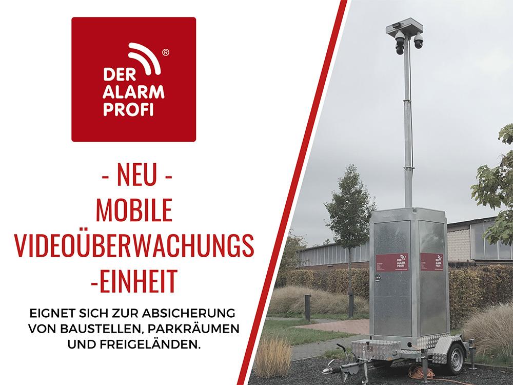 Mobile Videoüberwachungseinheit - eignet sich zur Absicherung von Baustellen, Parkräumen und Freigeländen